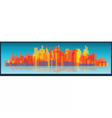 cityscape tall buildings on a long strip vector image