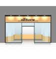 Empty shop front vector image