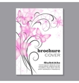 Floral brochure cover design vector image