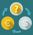 Movement of money Currency Rates vector image