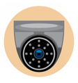 Digital silver and black surveillance vector image
