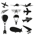 Set of flying icons vector image vector image