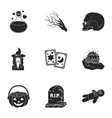 Black and white magic set icons in black style vector image