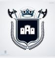 vintage decorative emblem composition heraldic vector image