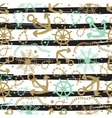 Seamless abstract marine pattern vector image vector image