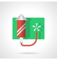 Festive fireworks flat color icon vector image