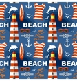Summer seamless sea patterns vector image