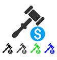 auction flat icon vector image