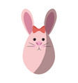 bunny ribbon animal vector image