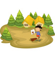 carpenter in the woods vector image
