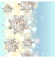 Christmas seamless background with snowflakes vector image