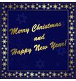 dark blue christmas card vector image