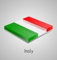 European flags set - Italy vector image