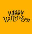 halloween abstract logo vector image