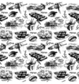 Hand drawn vintage Japanese seamless pattern vector image