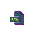 RAW Icon vector image