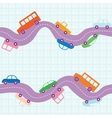 Seamless road background vector image