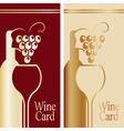 Cover for wine card Gold and red vector image