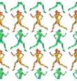 Sport seamless pattern with running women vector image