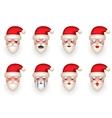 Christmas Santa Claus Avatar Smile Emoticon Icons vector image