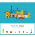 London United Kingdom and France design travel vector image