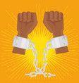 juneteenth awareness design vector image