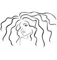 Sketch outline of woman head vector image