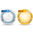 silver and gold circle frame vector image vector image