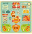 Fast Food Card vector image vector image