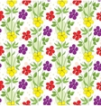 Seamless background with decorative flowers vector image vector image
