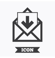 Mail icon Envelope symbol Inbox message sign vector image