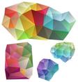 colorful geometric design elements vector image