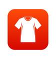men tennis t-shirt icon digital red vector image