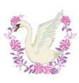 princess swan doodle vector image