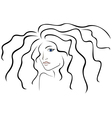 Sketch outline of woman head vector image
