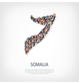 people map country Somalia vector image