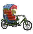 classic tricycle rickshaw vector image