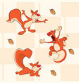 background with squirrels seamless pattern vector image