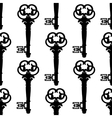Seamless background pattern of antique keys vector image