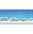 christmas houses vector image vector image