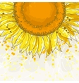 The square frame with sunflowers vector image vector image