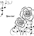 Beautiful floral pattern in black vector image