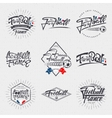 Footbal 2016 - badge sticker label insignia vector image