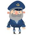 cartoon captain vector image