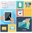 Computer tablet services web application concept vector image