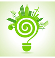 Ecology concept with bulb vector image