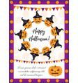 halloween poster happy halloween templates for vector image