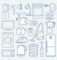Home appliances a background vector image