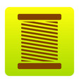 thread sign brown icon at vector image