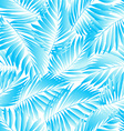 Tropical aqua leaves in a seamless pattern vector image